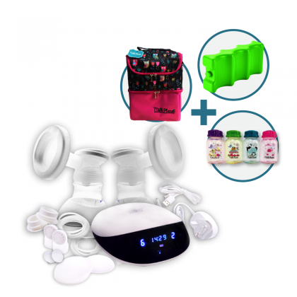 Milk Planet Beaute Glitter Duet Breastpump Set with 9 Level of Suctions